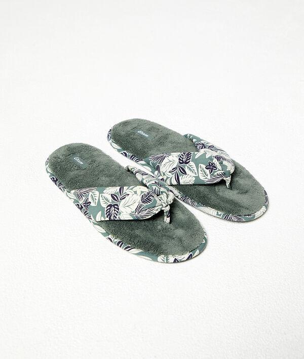 Zapatillas estampado de hojas;${refinementColor}
