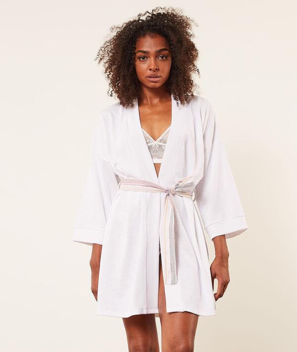 Bata tipo kimono con cinturón estampado;${refinementColor}