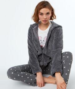 Pijama 3 piezas ratoncito c.gris.