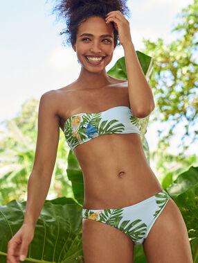 Braguita bikini estampado tropical multicolor.