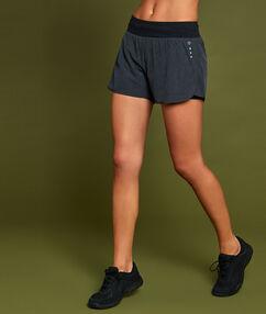 Pantalón corto 2 en 1 deportivo c.gris.