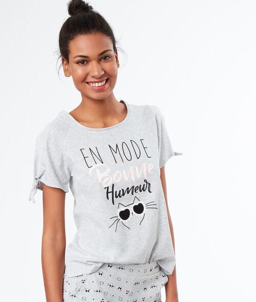 Camiseta manga corta gato