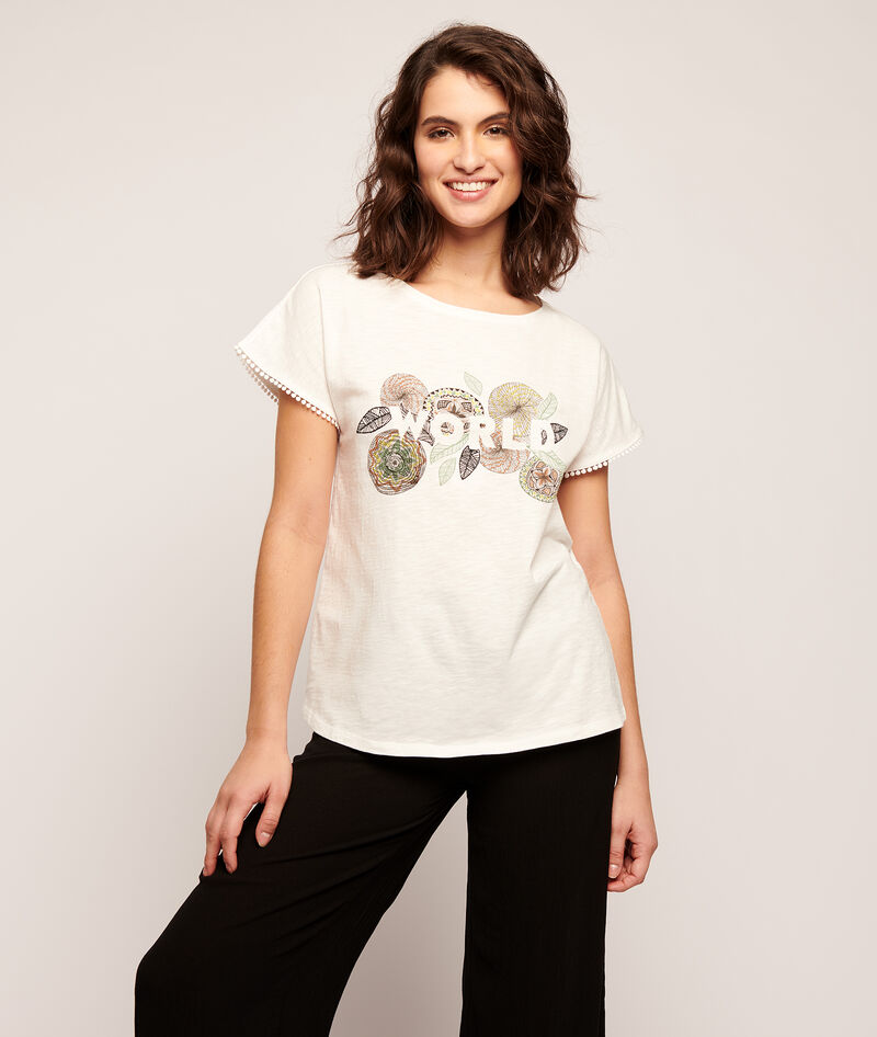 CAMISETA ESTAMPADA ROSAS 'WORLD'