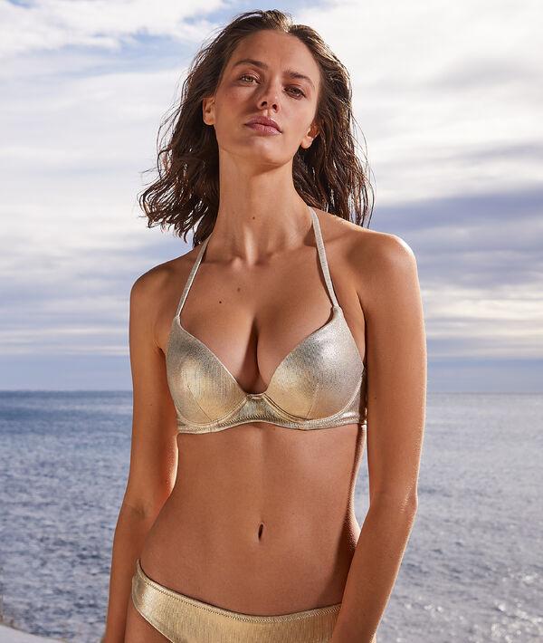 Sujetador bikini push up irisado. Copa B-C;${refinementColor}