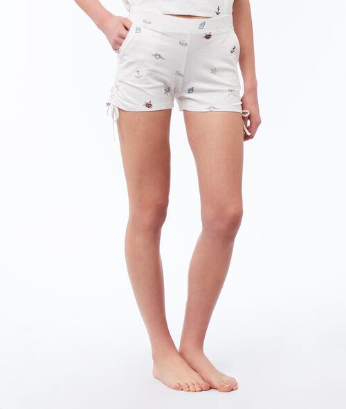 Pantalón corto estampado motivos marinos