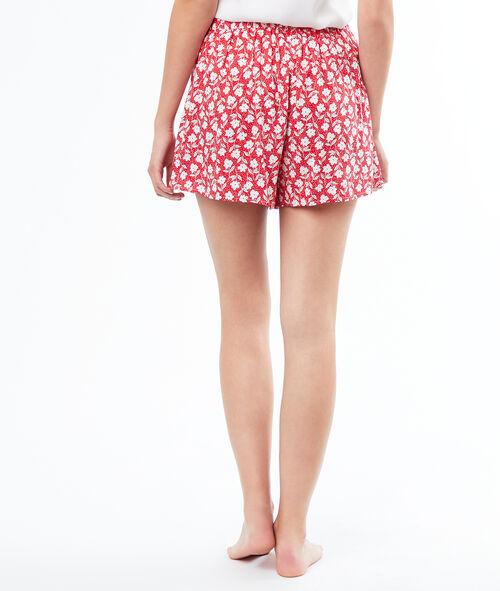 Pantalón corto holgado estampado floral
