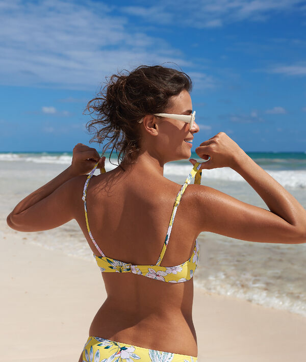 Top bikini almohadillas extraíbles