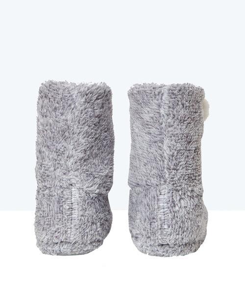 Zapatillas de casa altas de peluche