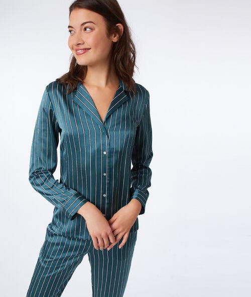 Camisa pijama de satén estilo masculino