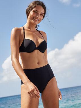 Sujetador bikini push up. copa b negro.