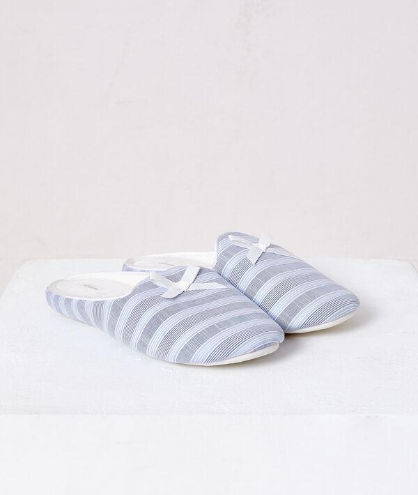 Zapatillas estampado de rayas;${refinementColor}