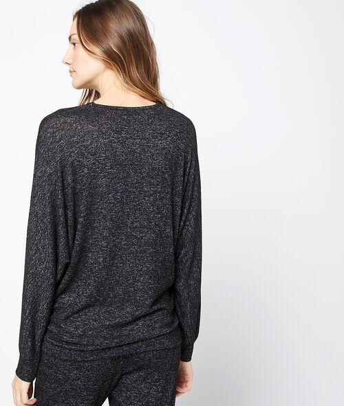 Camiseta holgada jaspeada 'week-end'
