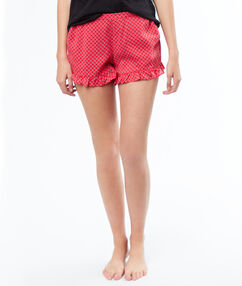 Pantalón corto estampado rojo.