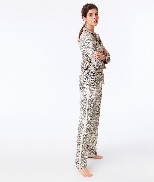 Pantalón estampado de leopardo