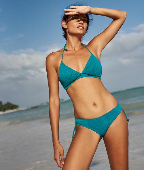 Braguita bikini estampado relieve