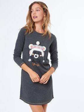 Camisón estampado oso c.gris.