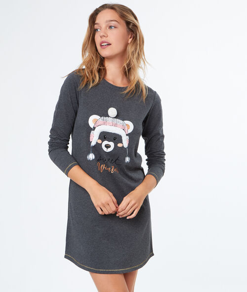 Camisón estampado oso