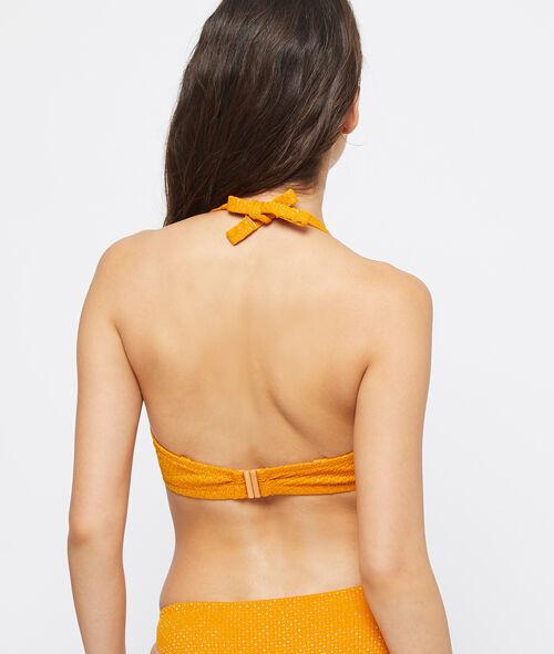 Sujetador bikini sin relleno irisado. Copa D-E