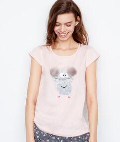 Camiseta estampado monstruo rose.