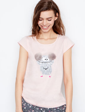 Camiseta estampado monstruo rose.
