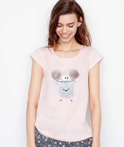 Camiseta estampado monstruo
