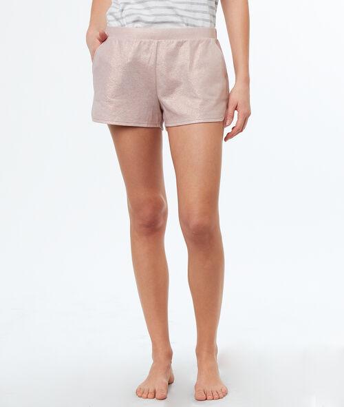 Pantalón corto tejido irisado