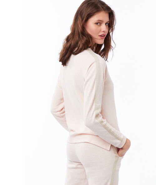 Camiseta manga larga franja lateral