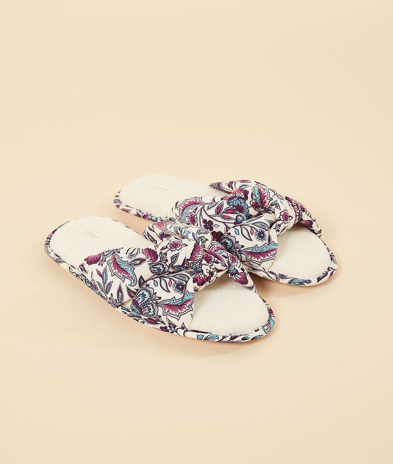 Zapatillas tipo chancla con nudo;${refinementColor}
