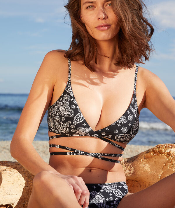 Sujetador bikini sin aros estampado;${refinementColor}