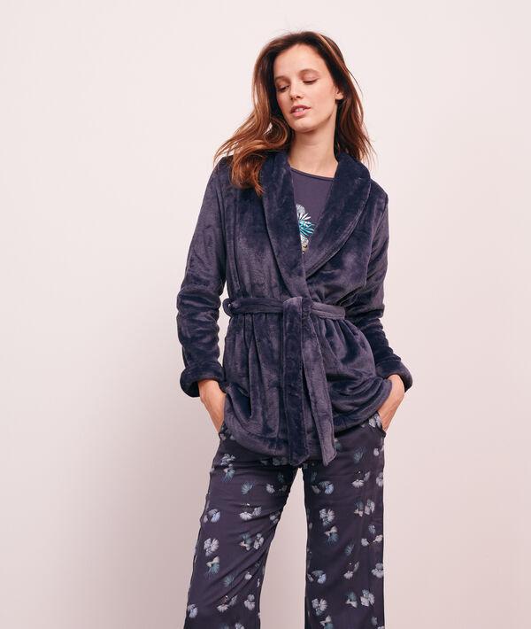 Pijama 3 piezas estampado, chaqueta forro polar;${refinementColor}