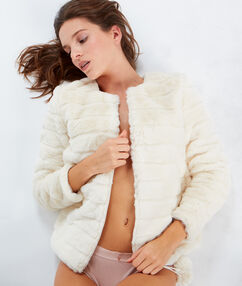 Chaqueta tejido peluche c.beige.