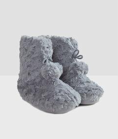 Zapatillas tipo botines forradas c.gris.