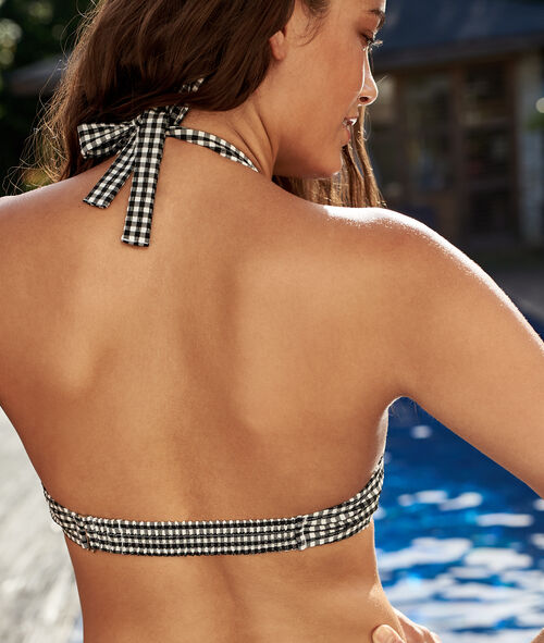 Top bikini estampado cuadros Vichy