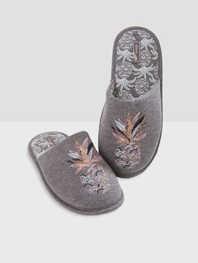 Zapatillas piñas c.gris.