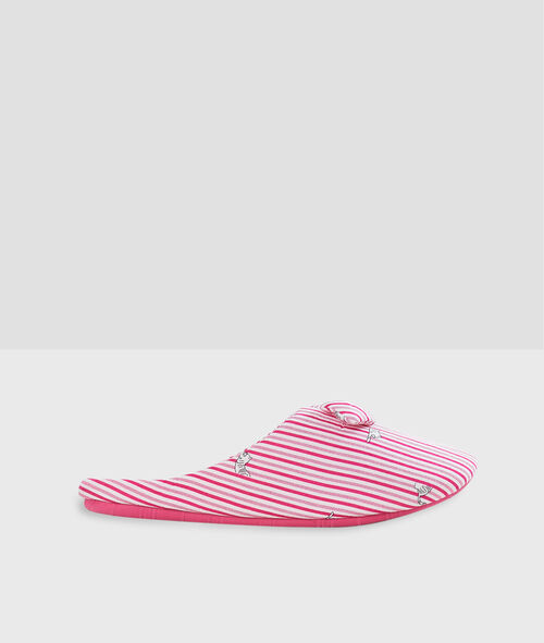 Zapatillas estampado a rayas
