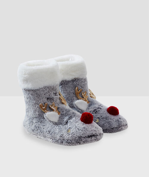 Zapatillas tipo botines reno