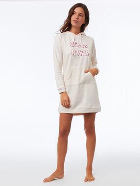 Robe sweat homewear rose.