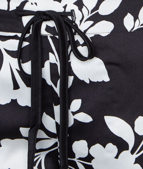 Pantalón satén estampado floral
