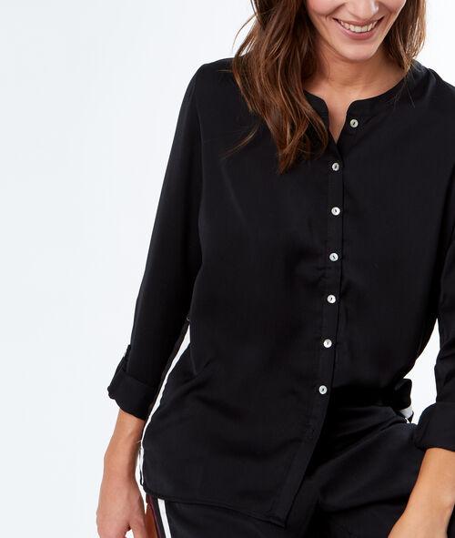 Camisa pijama franja contrastada
