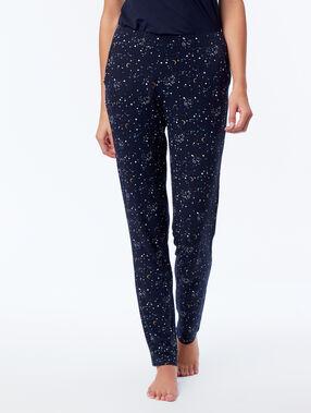 Pantalón estampado de estrellas azul.