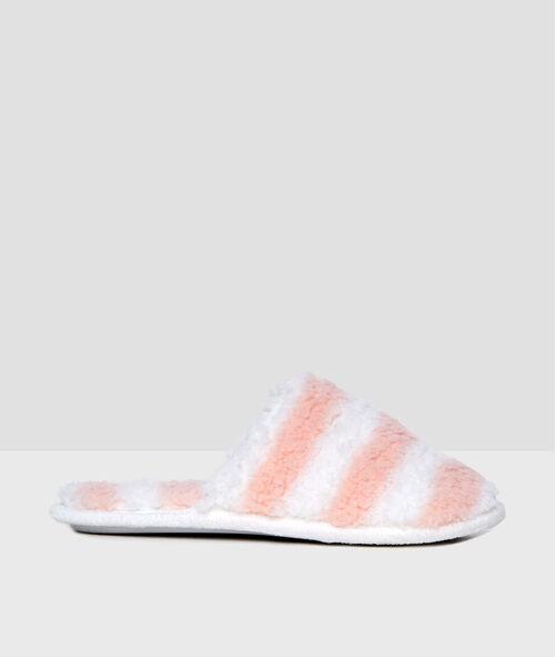 Zapatillas forradas estampado a rayas