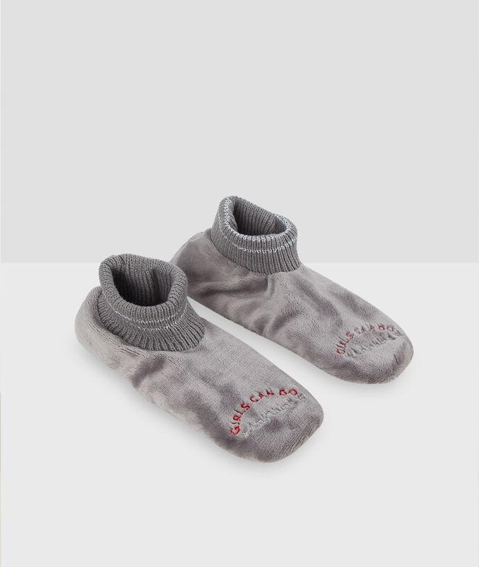 Calcetines homewear tejido peluche c.gris.