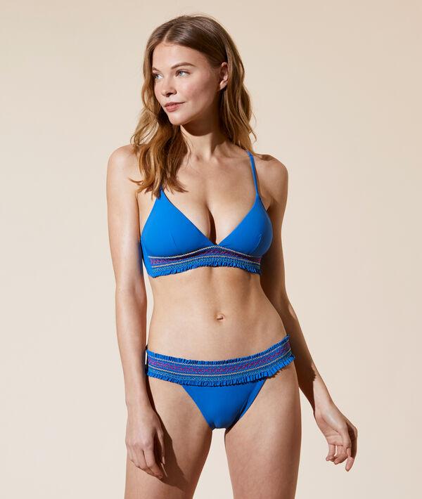 Sujetador bikini triángulo, espumas extraíbles;${refinementColor}