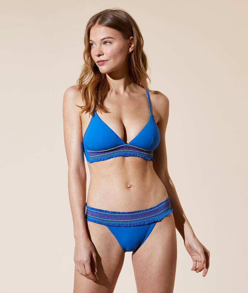 Sujetador bikini triángulo, espumas extraíbles