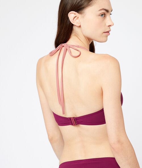 Sujetador bikini sin relleno bicolor. Copa C-E