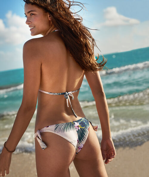 Braguita bikini brasileña estampado tropical