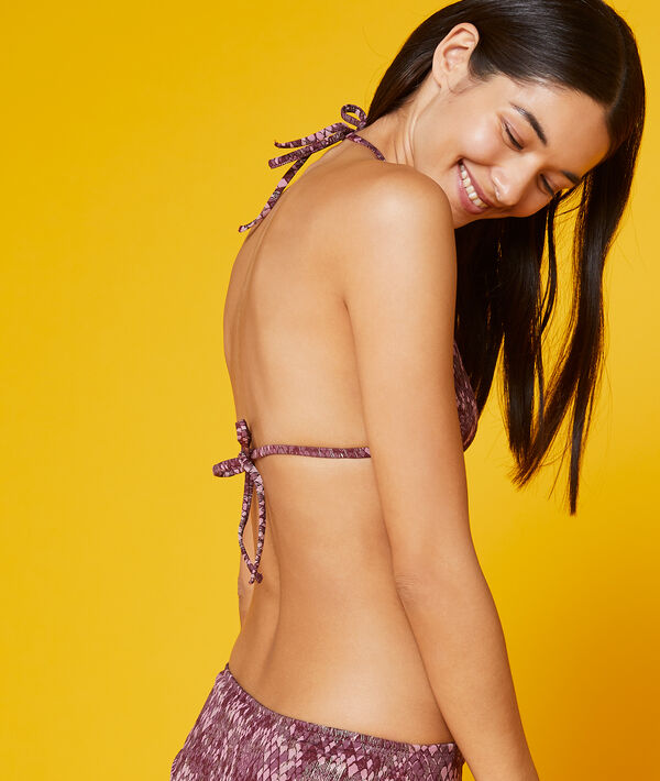 Sujetador bikini triangular estampado
