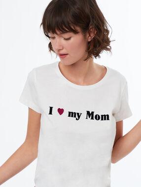 Camiseta amor de madre blanco.