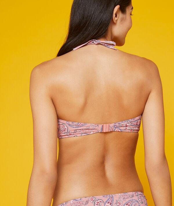 Sujetador bikini bandeau, tirantes extraíbles