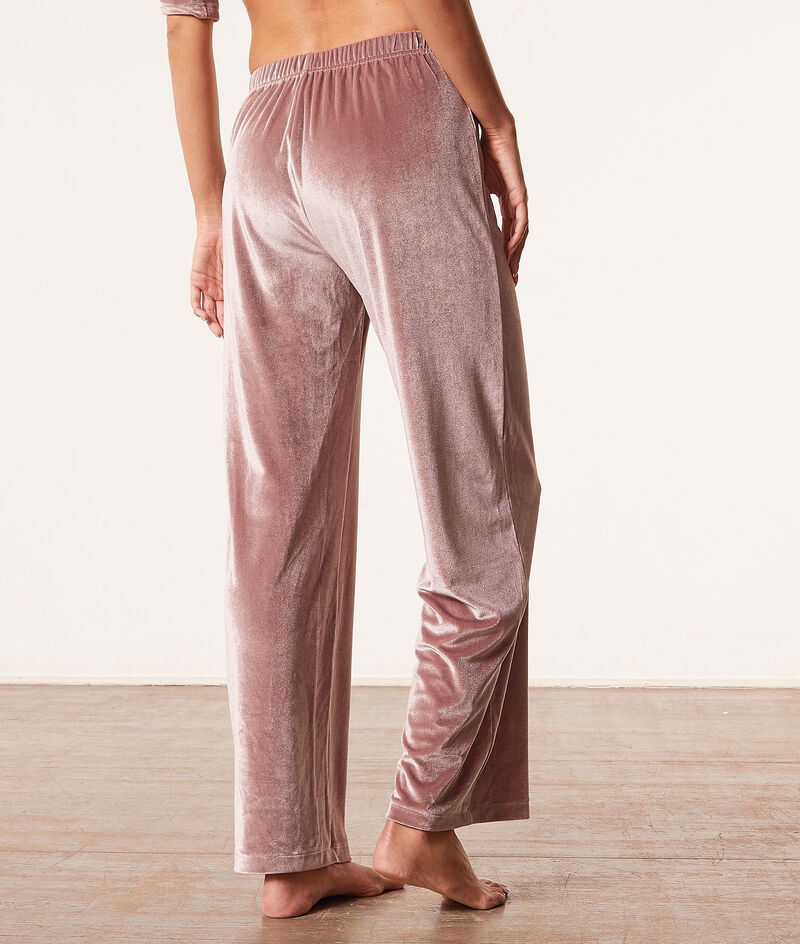 Pantalón pijama terciopelo;${refinementColor}